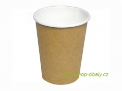 Kelímek papírový double wall 300/350ml 12oz kraft natural