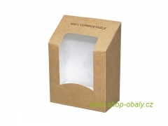 Krabička na tortillu BIO 90x50x120 mm, kraft/ PLA, 100% compostable