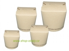 Box na nudle BIO BAMBOO 26oz  750ml, 100% compostable