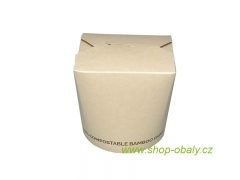 Box na nudle BIO BAMBOO 12oz  350ml, 100% compostable
