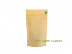 Sáček DOYPACK ZIP 250ml, 110x65x185mm BIO