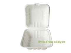 Hamburger box BIO 152x153x44/33mm, bílý
