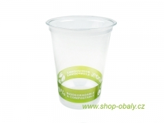 Kelímek PLA 300ml 12oz  95mm - 100% compostable GREEN
